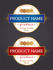 Label Design Template Vector