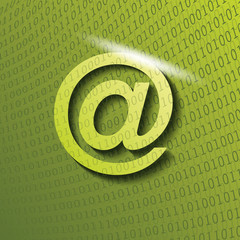 email icon with shadow