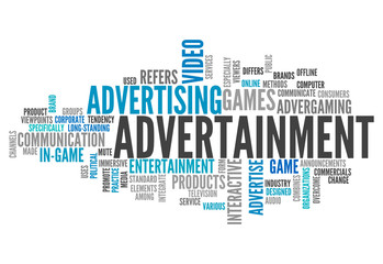 """Word Cloud """"Advertainment"""""""