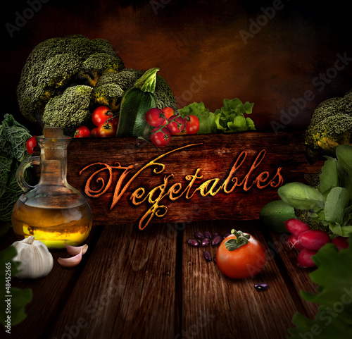 Food design - Fresh vegetables
