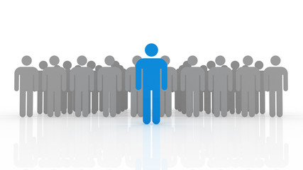 3d illustration of leadership concept
