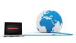 laptop uploading the world