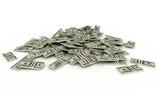 3d illustration of dollar banknotes heap