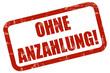 Grunge Stempel rot OHNE ANZAHLUNG!