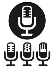 Simple Microphone Icons