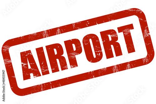 Grunge Stempel rot AIRPORT