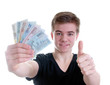 Teenager mit Geldscheinen – Geldfächer