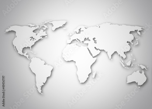 Image of a stylized world map