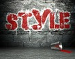 Graffiti wall with style, street background