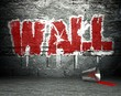 Graffiti wall art, street background