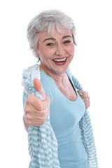 Glückliche Frau in den besten Jahren