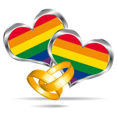 Gay marriage symbol.