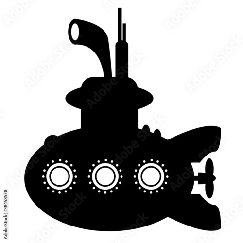 Submarine sign, vector illustration