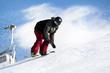snowboarder con seggiovia