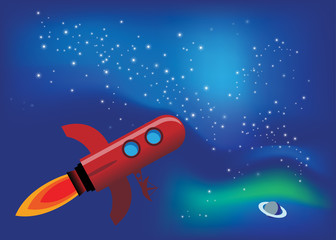 Rocket fly in Space