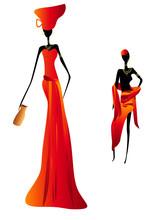 femmes africaines stylisées