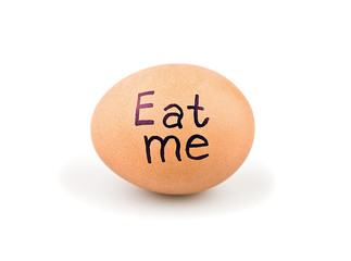 Egg with a slogan