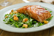 Grilled Salmon with Roast Potato and Arugula Salad