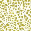 Seamless vector texture with green trees of birch.