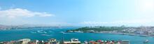 Panoramiczny widok na Stambuł.