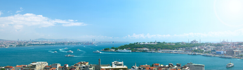 Panoramic view to Istanbul, Turkey.
