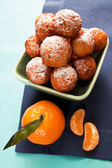 cheese balls with mandarin