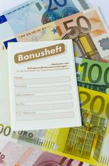 Geld und Bonusheft