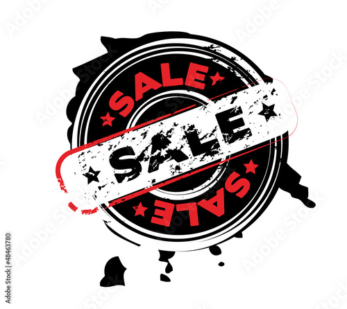 Abstract stamp with word sale