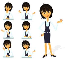 Set of a various woman poses - D