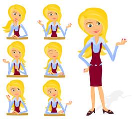 Set of a various woman poses - B