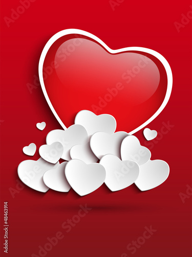 Valentines Day Heart Clouds