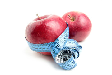 fresh ripe apple and metre as element health