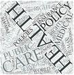 Health policy Disciplines Concept