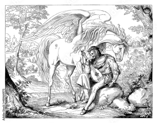 Pegasus : Winged Horse - Medieval Style