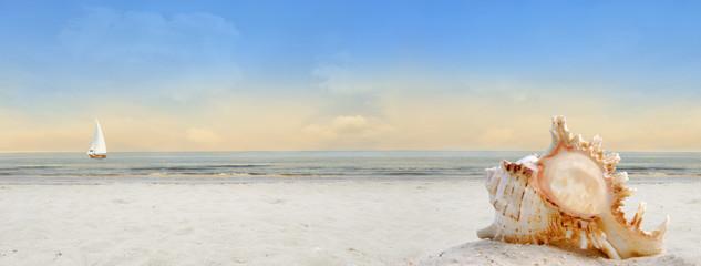 Am Meer Banner Hintergrund