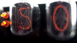 a numerical counter and number sequence filmed with nixie clock