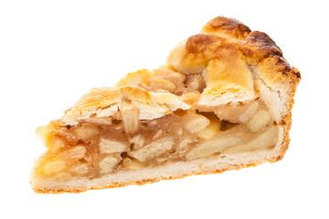 Ein einzelnes Stück Apfelkuchen