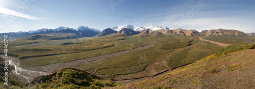 Denali Park Alaska Huge Panorama with Mc Kinley Mountain