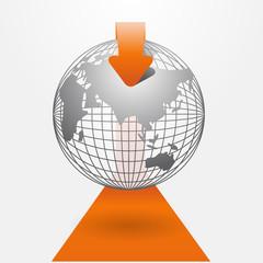 orange Modern infographics