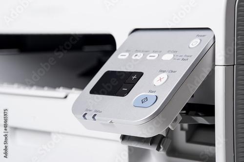 Leinwanddruck Bild Laser printer detail.