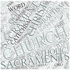 Sacrament Disciplines Concept