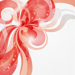 Abstract love theme background in red tones