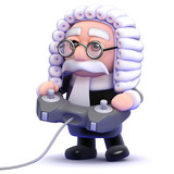 Judge plays videogames in his spare time poster