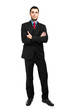 Confident full length businessman