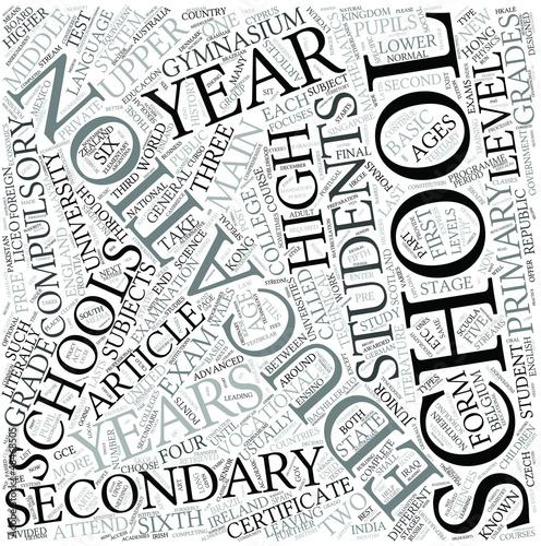 Secondary education Disciplines Concept