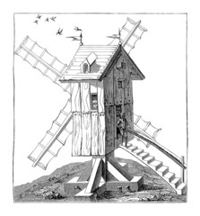 WindMill - Moulin à Vent - Windmühle - 16th century