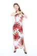 Beautiful asian woman wearing cheongsam