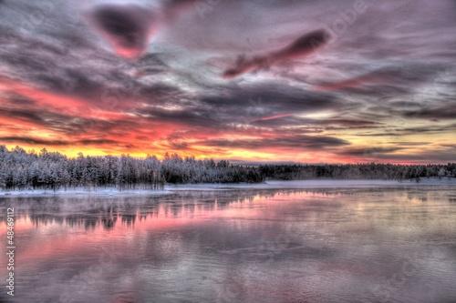 Staande foto Scandinavië Paysages de la Laponie finlandaise