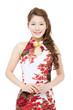 Beautiful asian woman wearing cheongsam