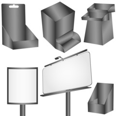 Display pannels on white